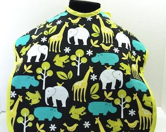 ZOOLOGY LAGOON- from Michael Miller Fabrics- MightyBib /Bapron / Toddler Bib
