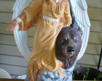 Indian angel with Bear
