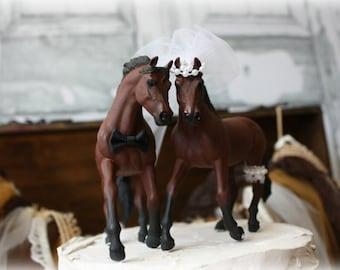Horse Wedding Cake Topper-Western Cake Topper-Country Western Cake Topper-Cowboy Cake topper