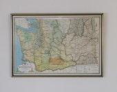 SOLD Vintage State of Washington Map