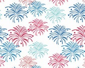 Fireworks on White from Riley Blake's Star Spangled Collection