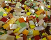FLOWER COLOR MIX - Stained Glass Mosaic Tile Supply B41