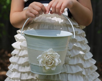 Flower Girl Basket Shabby Chic Rustic Weddings