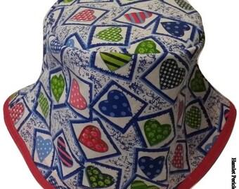 OOAK Hearts Allover Women Bucket Hat by hamlet Pericles