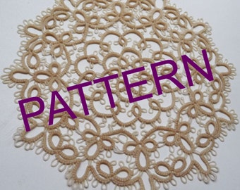 "Tatting pattern -  Round doily ""Shabby"" - tutorial - handmade doily - PDF pattern - download PDF - OOAK - instant download  - for needlework"