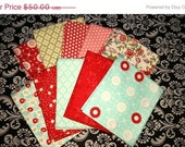 ON SALE Bliss bundle - 10 FQ's fat quarters - Bonnie and Camille for Moda 2010 - rare and Oop