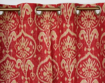 Red Window Curtains Red Drapes Red Window Panels Window Treatments