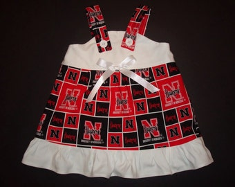 NCAA University of Nebraska Huskers Baby Infant Toddler Girls Dress  You Pick Size