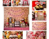 Our Little Lady Turns One Birthday  PARTY PACKAGE-DIY