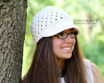 Crochet PATTERN - Crochet Hat Pattern - Crochet Newsboy Hat Pattern - Crochet Pattern for Women - Baby, Toddler, Kids, Adult Sizes - PDF 137