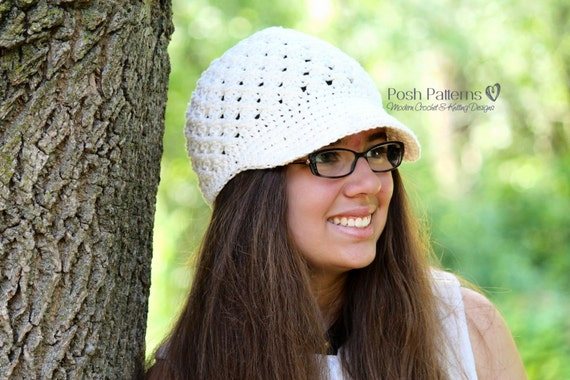 Crochet PATTERN - Crochet Hat Pattern - Crochet Newsboy Hat Pattern - Crochet Pattern for Women - Baby, Toddler, Kids, Adult Sizes - PDF 137
