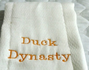 Embroidery Duck Dynasty Embroidery Burp Cloth