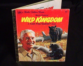 Vintage Children's Book - Marlin Perkins Wild Kingdom A Can-You-Guess? Book - 1976