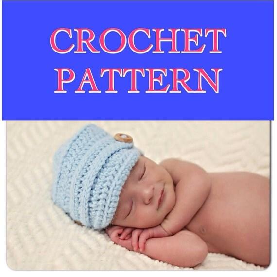 CROCHET PATTERN for our Original Baby Boy Newsie Hat - instructions for sizes Newborn-12 month