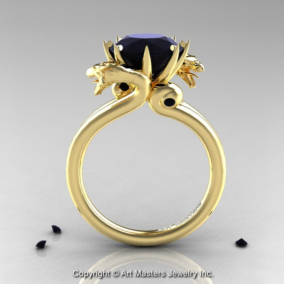 Blackdiamond Dragon Ring