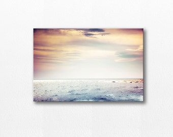 beach print canvas photography ocean beach decor coastal 12x12 24x36 art photography canvas photo canvas wall decor nautical prints gray