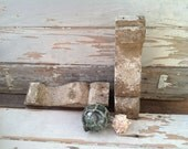 1 White Wooden Corbel Corner Bracket Shelves For ONE Corbel - Vintage 1800's Architectural Salvage, ONE Corner Bracket, Antique Pediment