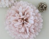 Dusty Blush Pom Pom -- Tissue Paper Pom Pom - Weddings - Birthdays - Paper Flower - Paper Decorations