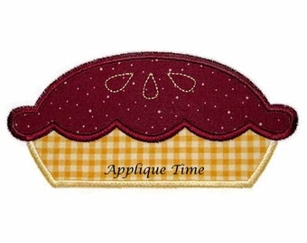 Instant Download Pie Machine Embroidery Applique Design 4x4, 5x7 and 6x10