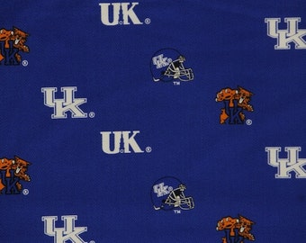 NCAA University of Kentucky Wildcats 100% Cotton V3 Fabric by the Yard