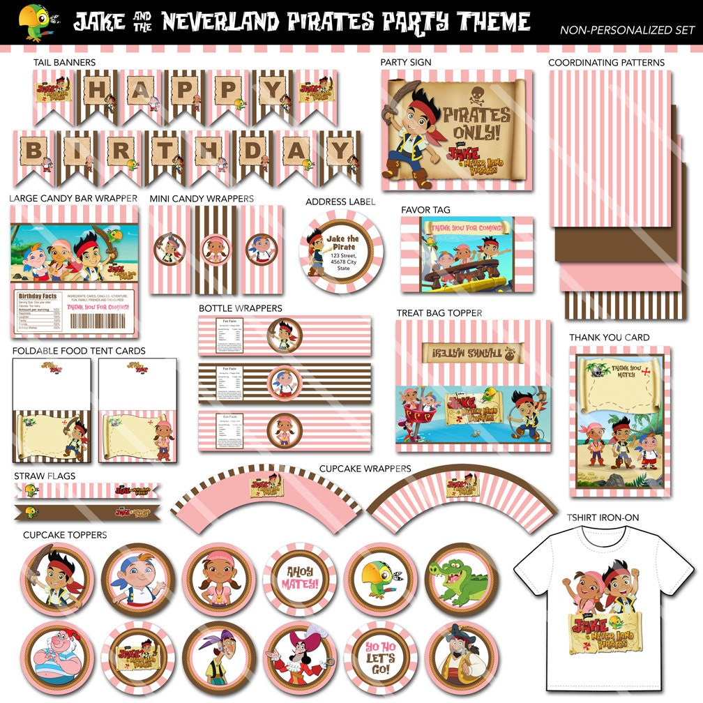 Jake and the Neverland Pirates Printable Birthday Party