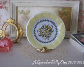 Yellow Garden Terrace Plate for Dollhouse