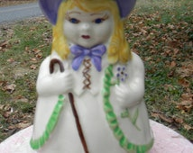nice clean colorful vintage 1940s SHAWNEE POTTERY  little bo PEEP pitcher