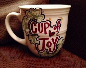 Cup Of Joy Hand Painted Mug - Coffee Mug