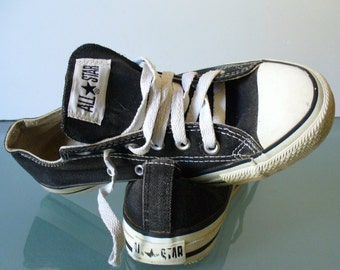 Vintage Converse All Star Black Made in USA Sneakers