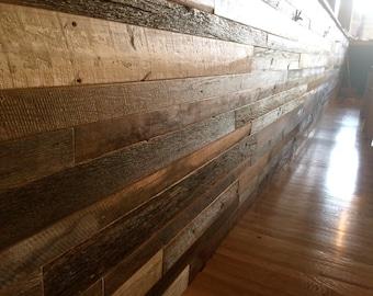 Pre-finished Reclaimed Barnwood Shiplap Paneling Barn Wood Vintage Rustic Paneling