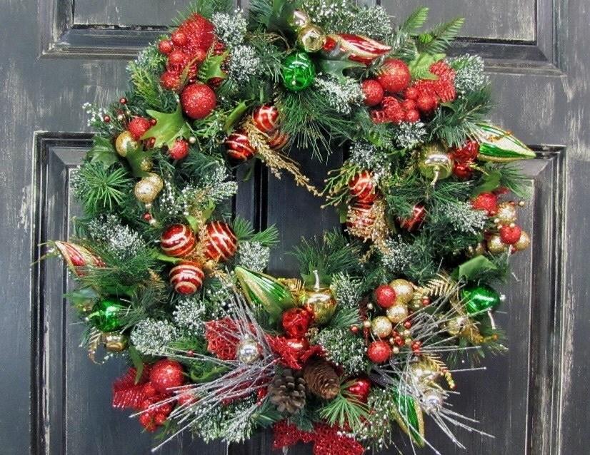 christmas wreath sale sale primitive christmas by designawreath. Black Bedroom Furniture Sets. Home Design Ideas