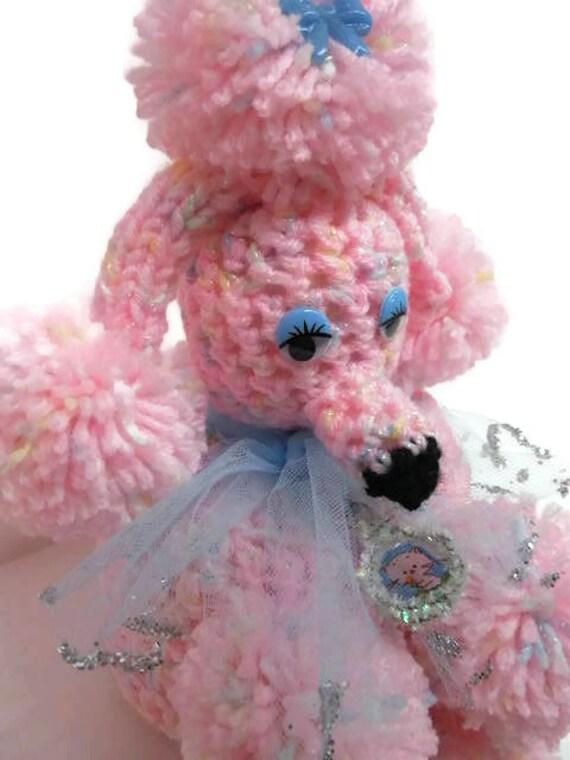 OOAK Pastel Pink Powder Room Poodle Bathroom Tissue Cozy