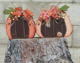 wooden pumpkins with bead board
