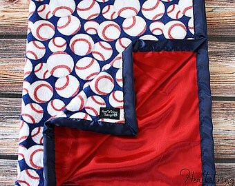 Baby Minky Blanket, Sports Minky Blanket, Baseball Blanket, Football Blanket, Basketball Blanket, Boy Minky, Baby boy blanket