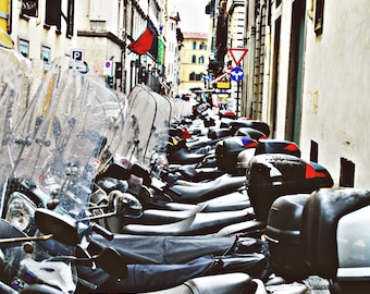 Vespa Photography, Rainy Day Print,Rain,Italy Wall Art,Fashion,Scooter,Tuscan,Wine Country, Hipster, Europe, Urban, Dorm,Travel, Color, Chic