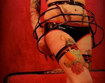 "Latex ""Cage"" skirt"