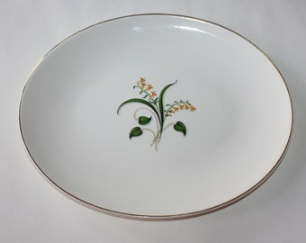 Lovely Vintage, Platter with Yellow Bells, Yellow Elder Flowers