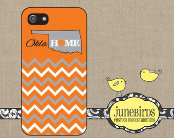 Personalized Iphone 4/4S and Iphone 5 Cell Phone Case - Personalized State - Oklahoma