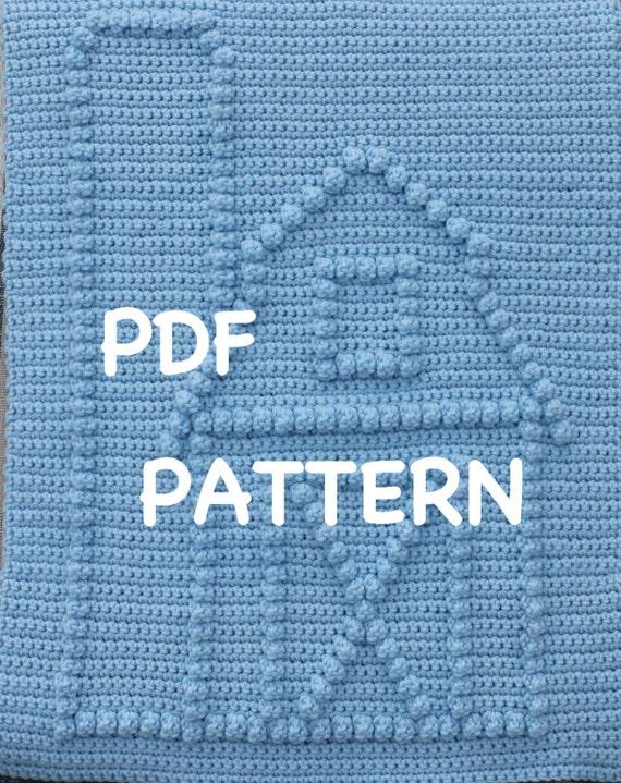 Barn and Silo Crochet Baby Blanket  Pattern - Crochet Baby Security Blanket  - Baby Snuggle Blanket - Carseat or Stroller Blanket