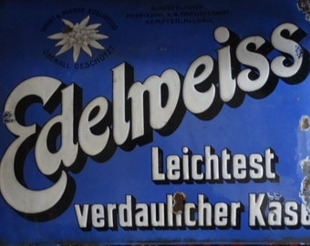 Edelweiss Cheese Advertising Sign