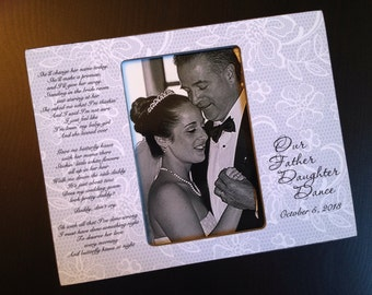Father Daughter Dance Gift Personalized Father of the Bride Gift Wedding Keepsake Wood 4x6 Picture Frame Father's Day Gift Photo Frame