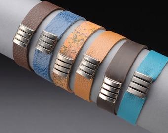 Leather Bracelet with sliding ornament