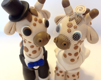 Giraffe Wedding Cake Topper - Choose Your Colors