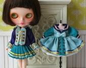 PO - Anniedollz Blythe Vintage Regimental Uniforms Coat - Peacock