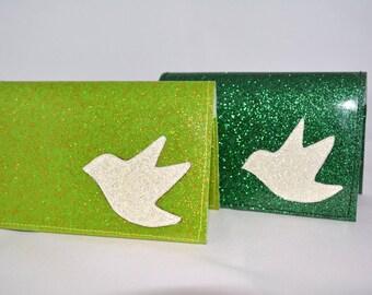 Sparrow Glitter Vinyl Billfold Wallet