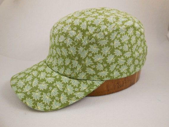 Hand crafted, custom made, lightweight cotton 5 panel cap, long or short visor, adjustable or fitted with cotton or leather sweatband.