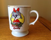 Honey Bunny 1980s Looney Toons Mug Bugs Bunny Valentine