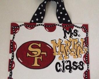 San Francisco 49ers nfl football teacher sign teacher gift classroom decor can be customized