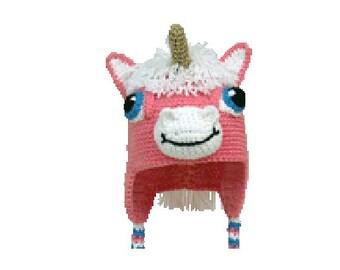 PDF Crochet Unicorn Hat Pattern. Includes 3 sizes.  (7338) Td creations