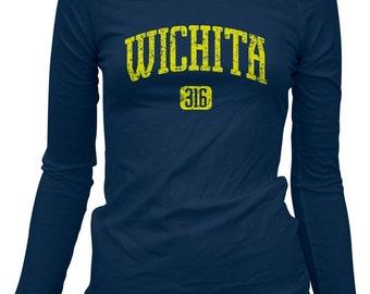 Women's Wichita 316 T-shirt - Long Sleeve - Kansas - S M L XL 2x - 4 Colors